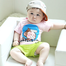 Baby Boy's Customed Brand Name Cartoon Printing T Shirt From China Market