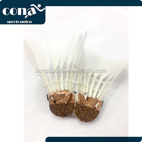 2017 wholesale new style professional Shuttlecock/Best Durability/best flying Top duck feather shuttlecock in China