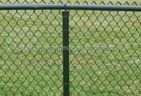 Hot dipped galvanized chain link wire mesh fence