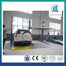 CE 2.7 T/2.3T cheaper vertical double layer two post car parking lift/smart parking system