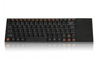German 2.4Ghz Wireless Desktop Keyboard with touch pad, PC Metal backboard, Perfect cooperation. Flymouse