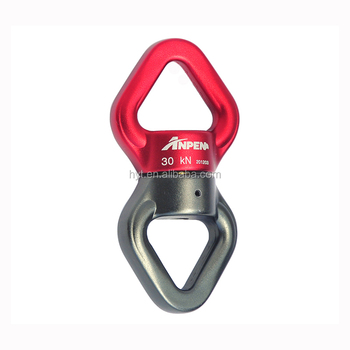 Climbing Mountain CE EN354 Aluminum 155g Sealed Ball Bearing Connector Swivel