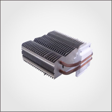 Aluminum insert fin heat sink/heatsink with pressed 2 pcs copper heat pipes