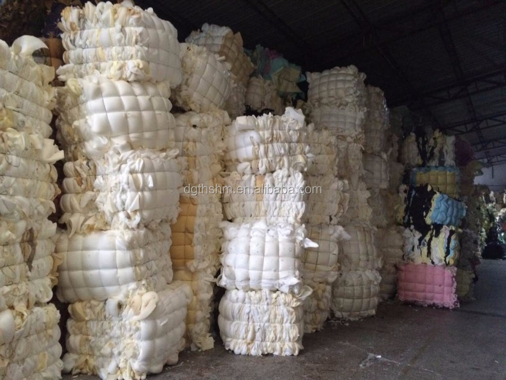 furniture foam recycling waste sponge without skins PU material