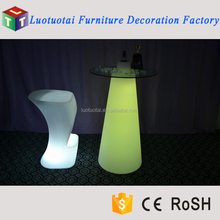 Commercial furniture rechargeable battery led light table for event