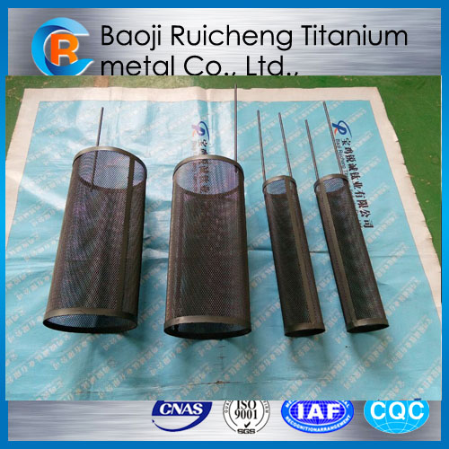 Ru-Ir coated titanium anode mesh bucket for hot sale