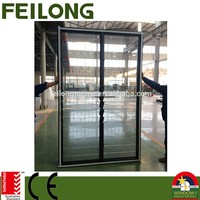 Adjustable aluminum profile glass shutter/louver window passed AS2047