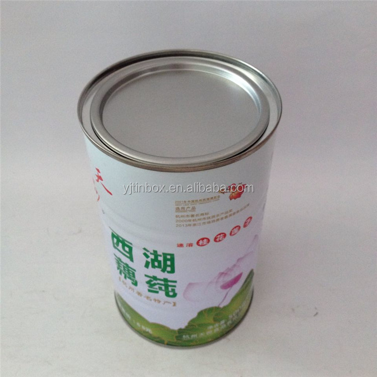 Hot sale round metal tinpalte boxes , can tins for lotus root powder