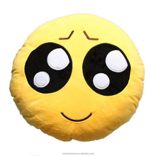 Stuffed emoji neck pillow Kiss Love Heart Smile Face Yellow Round Cushion Pillow