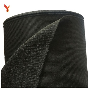 adhesive- bonded 100 polyester tricot brushed fabric interlining woven fusible fabric textil woven interlining for clothes