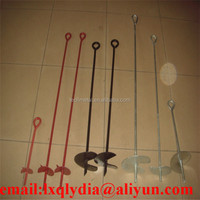 Hot Sale Steel Q235 Post Anchor Earth Screw Anchor Fence Spike/fence Ground Anchor / Ground Screw Anchor For Fence