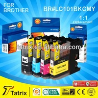 The Cheapest Price Wholesale LC-101 Inkjet Printer Ink Cartridge For Brother,Made in China,Gold Supplier With Alibaba