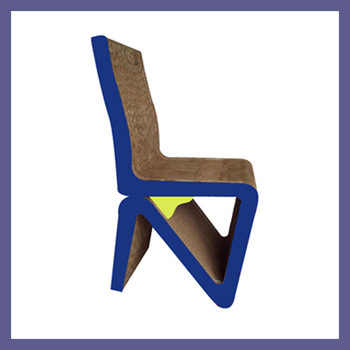 SIMPLE DESIGN CARDBOARD CHAIR FOR DKPF100108