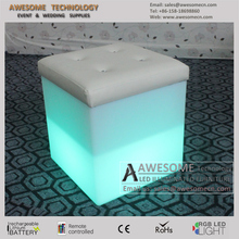 plastic cube furniture / lighted cube ottoman (cb470)