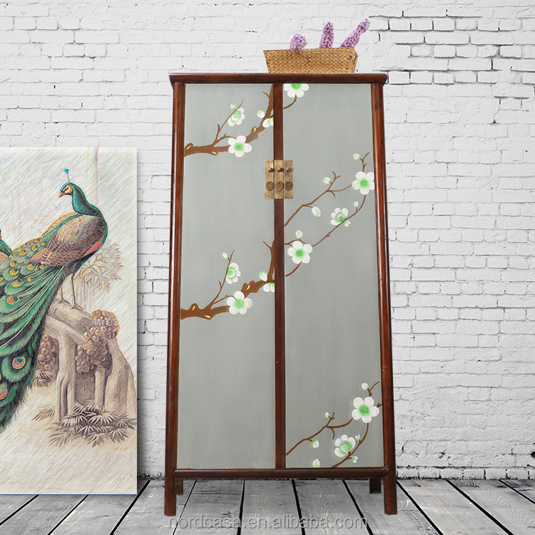 recycle pine wood two door antique style chinese wardrobes
