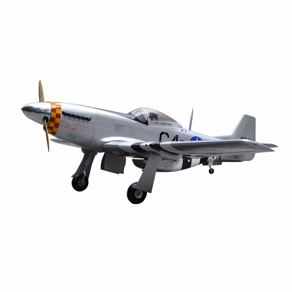 "2016 P-51 Mustang 96"" V2 100cc rc model airplane"