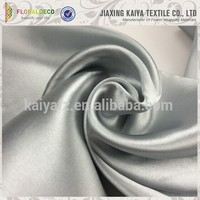 Versatile polyester soft solid color silk crepe satin