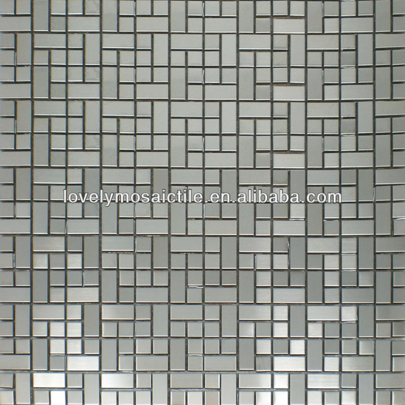 Stainless Mosaic Tiles Silver Color Mosaic Tiles 2015 Mosiac Tile New Design