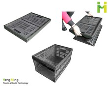 Durable Mesh Folding Plastic Crate for Fruits