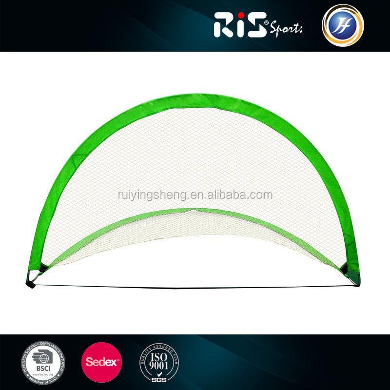 Factory supply foldable twins fiberglass Pop-up soccer goal