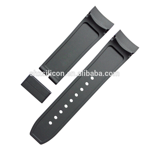 ROHS Certificate Silicone Rubber Watch Band Extenders