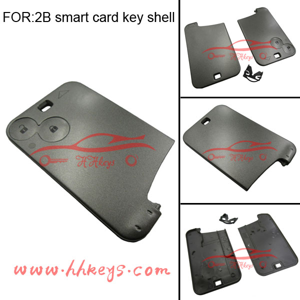 Renault laguna key card for 2 Buttons Smart Remote key fob and silicone Remote key cover without Blade and chip