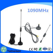 Factory sale 1090Mhz Antenna MCX Plug Connector 3dbi gain ADS-B Aerial 1090mhz with Magnet Base
