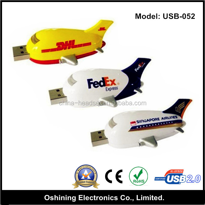 Popular Custom Logo Plane USB Memory Stick 4gb Aircraft USB Flash Drive Promotional Gifts