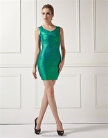 Fall and winter collection of 2015 zuhair murad dresses for sale emerald v-neck party dacing hot Cocktail Dress