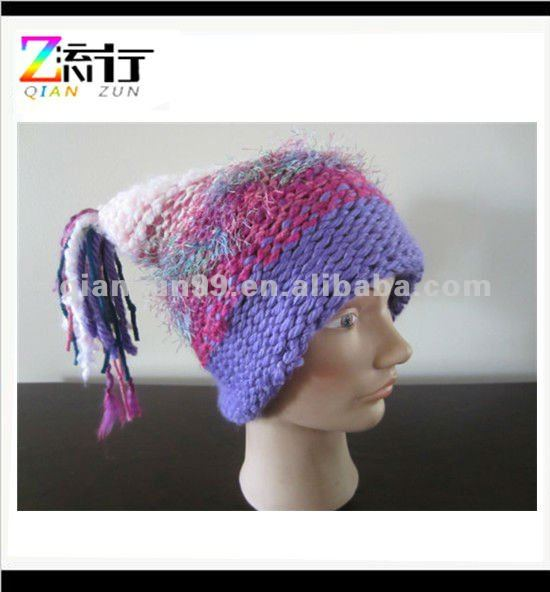 2014 new fashion hand knit cloche hat