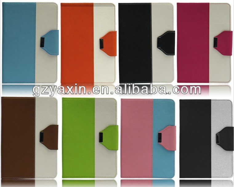 Double color belt clip leather stand case for ipad mini with factory price