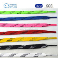 Factory direct supply white waxed Sonic Tip Hockey Skate Laces