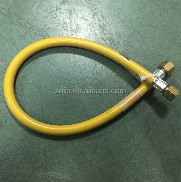 Chile Pvc Gas <strong>hose</strong> with two brass connector 3/8' certificate ZJ-P3010