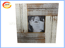 Square wood photo frame for picture