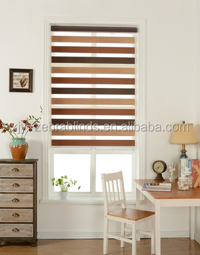 double layer zebra window blind