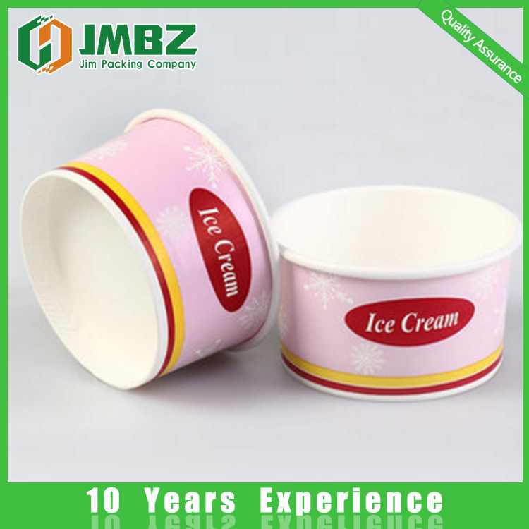 Bowl Type and Single Wall Style frozen yogurt paper cup bowl container lid
