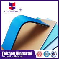 Alucoworld rapid-installing aluminum composite plastic panel caravan cladding wall