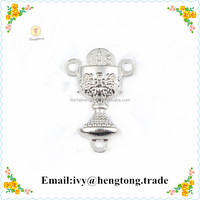 Wholesale religious rosary catholic centerpiece chalice, center piece, metal plated silver rosary communion center