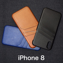 2017 New Arrival Card Case Soft Shockproof PU Leather Wallet Protective Case with Card slot for iPhone 8