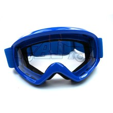 BJ-MG-015 New Arrival blue frames clear lens dirt bike motocross bulletproof goggle