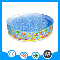 portable no inflatable family size hard plastic pool