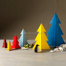 colorful Christmas tree plywood christmas decorating