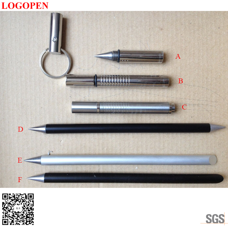 High Quality Custom Logo the inkless metal pen