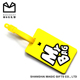 factory supplier 2d PVC waterproof luggage tags wedding favor