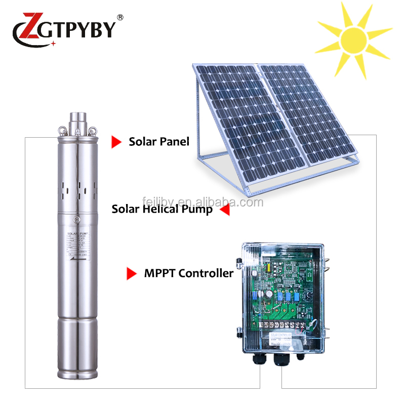 solar submersible water pump with mppt controller 1kw solar system for pond