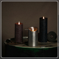 TECMO Rustic series battery operated with remote contral flameless moving wick wax LED candle