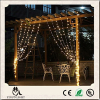 Waterproof Connectable LED Curtain Lights 3*3m 300leds Christmas decoration curtain icicle light for wedding party