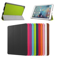 2016 New Folio Book Style Leather smart Cover Case for ipad Pro 9.7 , for ipad Pro 9.7 leather case