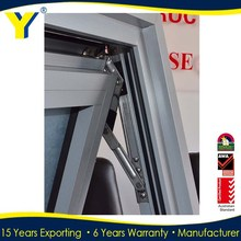 Anti-theft retractable screen Aluminum Top Hung window/Awning with 30-40 years lifespan