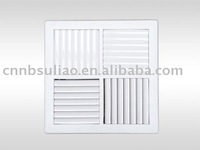 compact and adjustable square louver grille P300